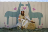 Knit fashion with alpacas at the Birdsong Ranch in Larkspur, Colo., on November  16, 2006.  (ELLEN...