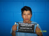 Booking mug for Jose Francisco-Rodriguez, driver of van that ran off I-70 eastbound on Tuesday,...