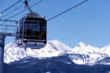 Skiers ride the Vail gondola. Photo: Vail Resorts