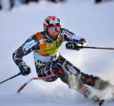 Aksel Lund Svindal (#26) makes his way around a gate during the Slalom run of the Visa Birds of...