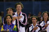 (Athens, Greece  on Tuesday, Aug. 23, 2004) -  American beach volleyball gold medalist Kerri...