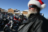 MJM407   Paul Newlon (cq) stands next to long rows of motorcycles at Aspen Grove Lifestyles Center...