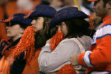 BG0824 In the fourth quarter. After the game,  Denver Broncos stare on to the field after the San...