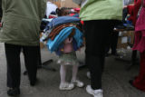 Destiny SImmons, (cq), 4, has just about enough sweaters. She is shopping with her aunt Janice...