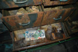 (NYT24) UNDATED -- Nov. 20, 2006 -- KATRINA-LOST-EVIDENCE-2  -- Drawers filled with flood-damaged...