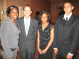 Tribute to Black Youth honorees, from left, Dorcas Kimata, Daniel Edwards, Alyssa Green and Lucas...