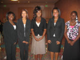 Tribute to Black Youth honorees Sanai Fennell, Cheya Dowden, Courtnee Brown, Jamilia Walker and...