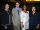 From left, Cynthia Holmes, Andrew Hudson (Frontier Airlines), Alice Redwine (American Family...