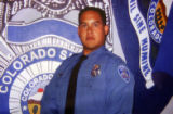 Copy photo of Colorado Springs Police Officer Kenneth Jordan.  Jordan, 32, was killed during a...