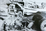 Historical photos from the court case against Duane Harms who was the driver when a school bus was...