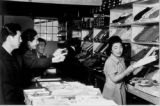Men purchasing clothing at the Canteen at Grenada-Amache Japanese Internment Camp.    (Photos from...