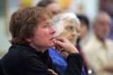 Liz Chandler (cq) from New Castle, attends a meeting of the GVCA, Grand Valley Citizens Alliance,...