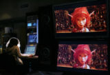 MJM095  Kandi Wheeler (cq) works in the master control room at HDNet in Denver Thursday morning . ...