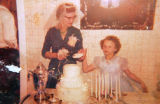 Photo of Marie Alles (cq) and her daughter Linda Alles (cq), at the 25th wedding anniversary of...