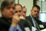 (DLM0049) -  State senator elect Republican Scott Renfroe from Senate District 13, right, listens...