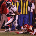 [JPM365] In the third quarter, Denver Broncos Rod Smith (80) picks up yards on second down against...