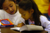 (DENVER COLORADO - August 11, 2004 )  Third grade students  Yamily Pintones (cq - left ) and Aysia...