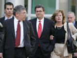 Former Qwest CEO Joe Nacchio leaves federal court after being convicted on 19 counts of criminal...