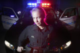 Commerce City Police Officer Lanissa Blevens, (cq) at police headquarters at 60th Ave. in Commerce...