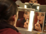 (Vail, Colo., August 12, 2004) Zara Calero, of Victor Ullate Ballet from Madrid, Spain, puts on...