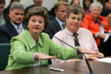 Former Colorado Senator and Representative Norma Anderson, left, and Rep. Jack Pommer (D-Boulder)...