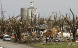 KSOW101 - Residents view the damage from Friday's tornado in Greensburg, Kan., Monday, May 7,...