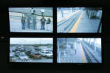 Derek Greenamyer (cq) a security tech for RTD monitors live cameras at various RTD stations around...