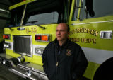 DLM3765  EverGreen Fire Chief Joel Janov at Evergreen Fire Rescue Station 2 in Bergen Park, Colo....