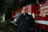 DLM3786  EverGreen Fire Chief Joel Janov at Evergreen Fire Rescue Station 2 in Bergen Park, Colo....