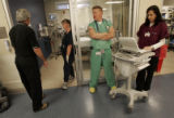 University Hospital Emergency Department charge nurse Michael Swain (cq), nurse Kathleen Anderson...