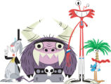 The characters on Foster's Home for Imaginary Friends, which is a 30-minute animated comedy about...