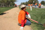 Davuntae Hartfield, 10, (cq) a Park Hill student, took a break before finishing planting a tree in...