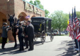 The Carrage arrives at Martin Mortuary to receive the body of CPL Wade Oglesby to take to the...