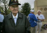 Jim Beam, (cq) 84, who was with the 101st Airborne parachuted into Europe and sipped Hitler...