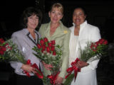 From left, VOA Luncheon co-chairwomen, Kathy Klugman, Susan Barnhill and Kathryn Kaiser. (DAHLIA...