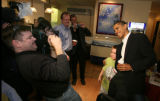 (NYT30) PORTSMOUTH, NH -- December 10, 2006 -- DEMS-OBAMA-3 -- Senator Barack Obama poses with...