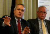 Governor-elect Bill Ritter answers questions from boards members of Colorado State University...