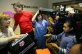 About 150 Barrett Elementary School students received new sneakers and socks as part of the Soul...