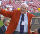 OHDK101 - SPECIAL TO THE ROCKY MOUNTAIN NEWS- Former Cincinnati Reds' executive Bob Howsam waves...