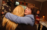 (Arvada, Colo., May 16, 2004) Mary Malatesta, right, a candidate for District Attorney of the...