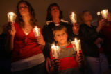 MJM238  Kelsi Welch, 15, left to right, stands next to her mother, Terri Welch (cq), and her...