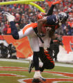 [JPM0050] In the second quarter,  Denver Broncos Javon Walker (84) pulls down a 39-yard touchdown...