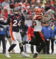 [JPM0484]In the first quarter,  Denver Broncos Champ Bailey (24) intercepts a pass intended for ...