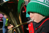 John Arthurs plays his Euphonium during the 32nd annual TubaChristmas Sunday afternoon December...