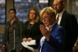 MJM032 Arapahoe County District Attorney, Carol Chambers holds a press conference Tuesday in...