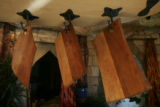 JPM140 - Cutting boards hang from the ceiling in the kitchen on Feb. 21, 2007. Alice Starek is a...