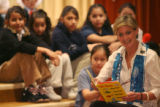 JM1029 -  Jeannie Ritter (public figure) (at right) participates in a reading of Dr Seuss's...