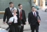 (from left- back row) Prosecutors, James Hearty, Kevin Traskos, Cliff Stricklin and C Conry (front...