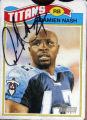 Collector's trading card of Denver Bronco and former University of Missouri-Columbia running back...