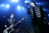 MJM072 The New Jersey based band, My Chemical Romance Mikey Way, left, on bass and brother and...